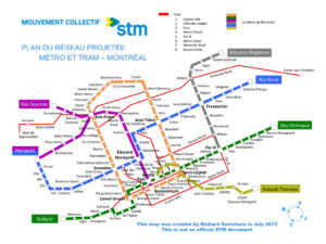 Métro expansion and surface tram proposal by Richard Sunichura