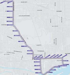 The city of Montreal's current, watered-down Tramways network proposal.