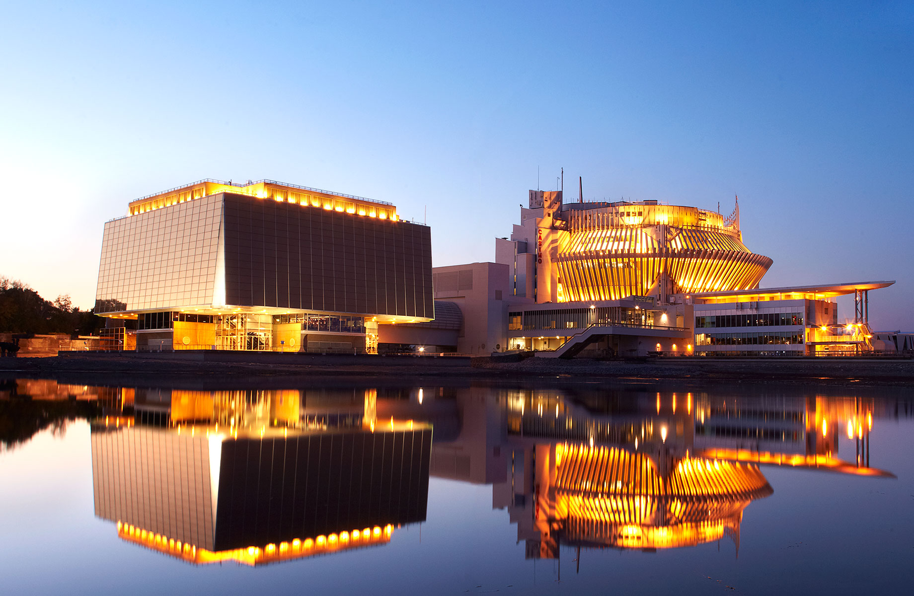 Really wish I had taken this - props to whoever did. The Casino, previously the Québec and French pavilions of Expo 67.