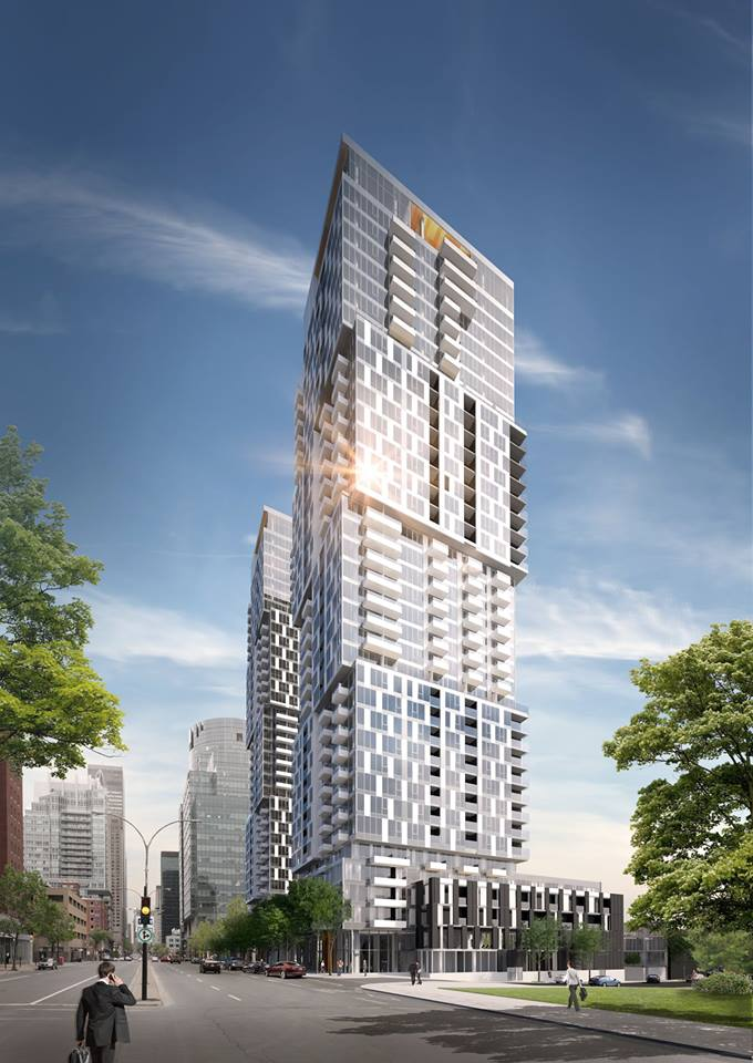 YUL Condos from Mackay and René-Lévesque - not the work of the author