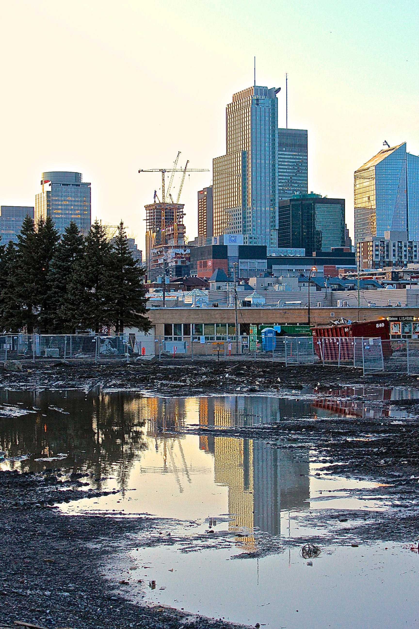 Reflections of Construction - Montreal, April 2015