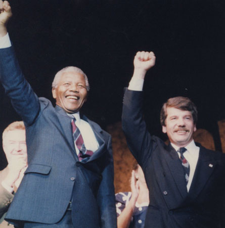 Jean Doré and Nelson Mandela - July, 1990