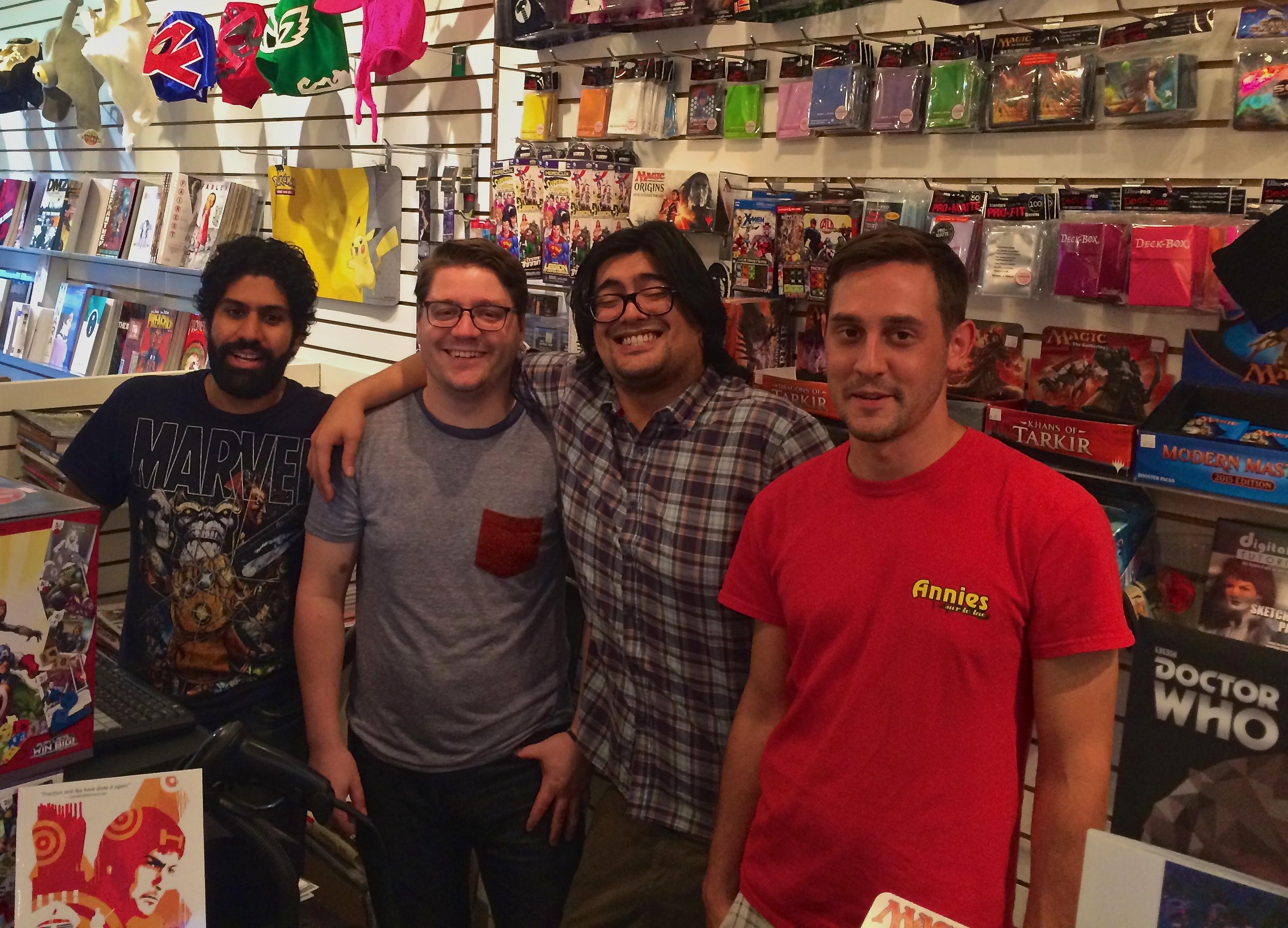 Ray, Paul, George and Adrien of Crossover Comics