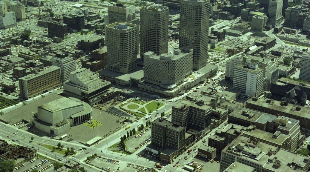 Complexe Desjardins and Downtown Montreal, August 1976